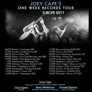 Joey Cape, Solo-Tour im September 2017